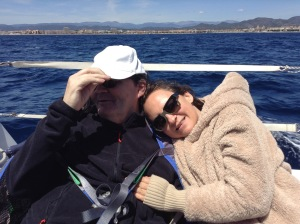 Lou et Alain à bord de Tangara