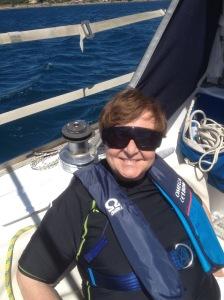 Sylvie à bord de Tangara